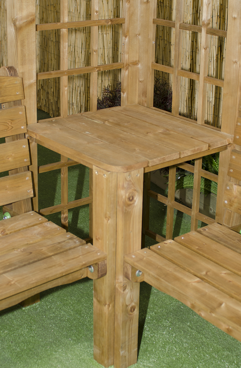 side table on pergola