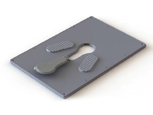 Dunster Slab squating plate dunster house humanitarian sanitation product range