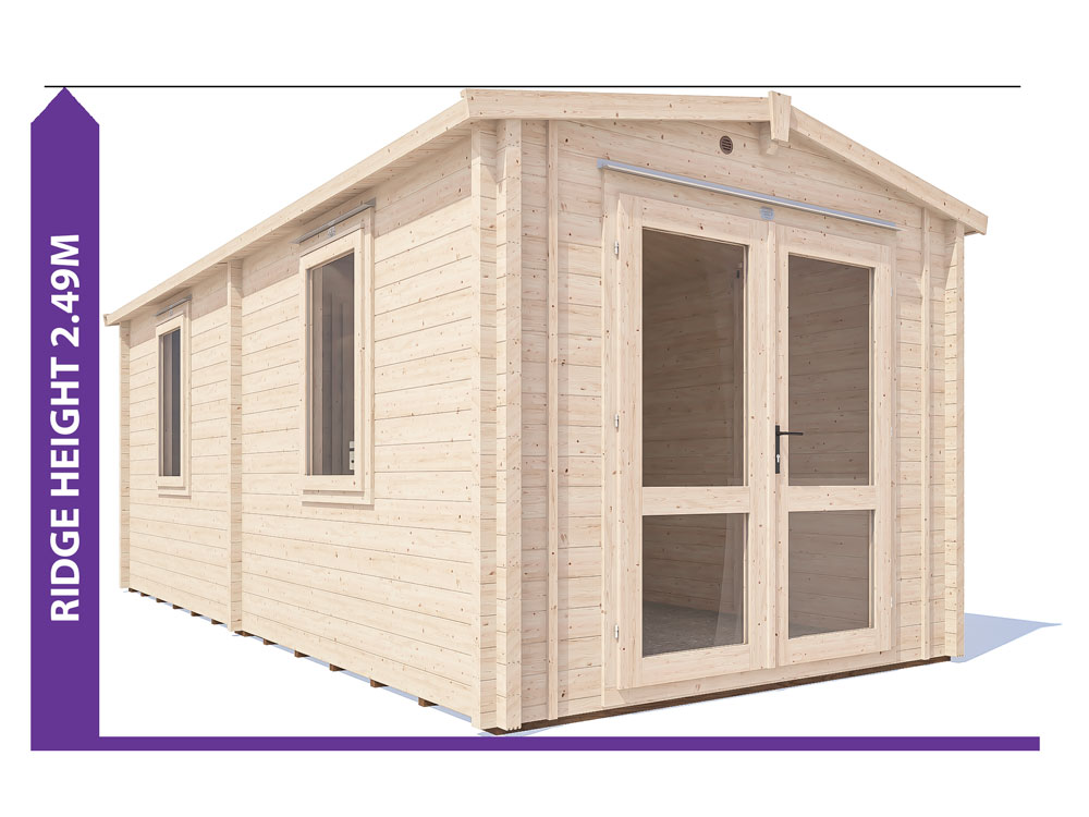 Avon Grande Insulated Log Cabin Avoid Planning Permission
