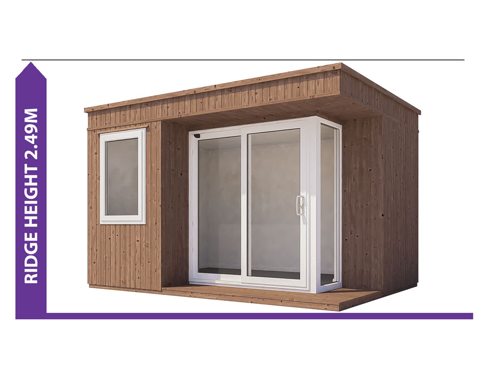 Garden Offices Avoid Planning Permission Kratos 3827 LR II