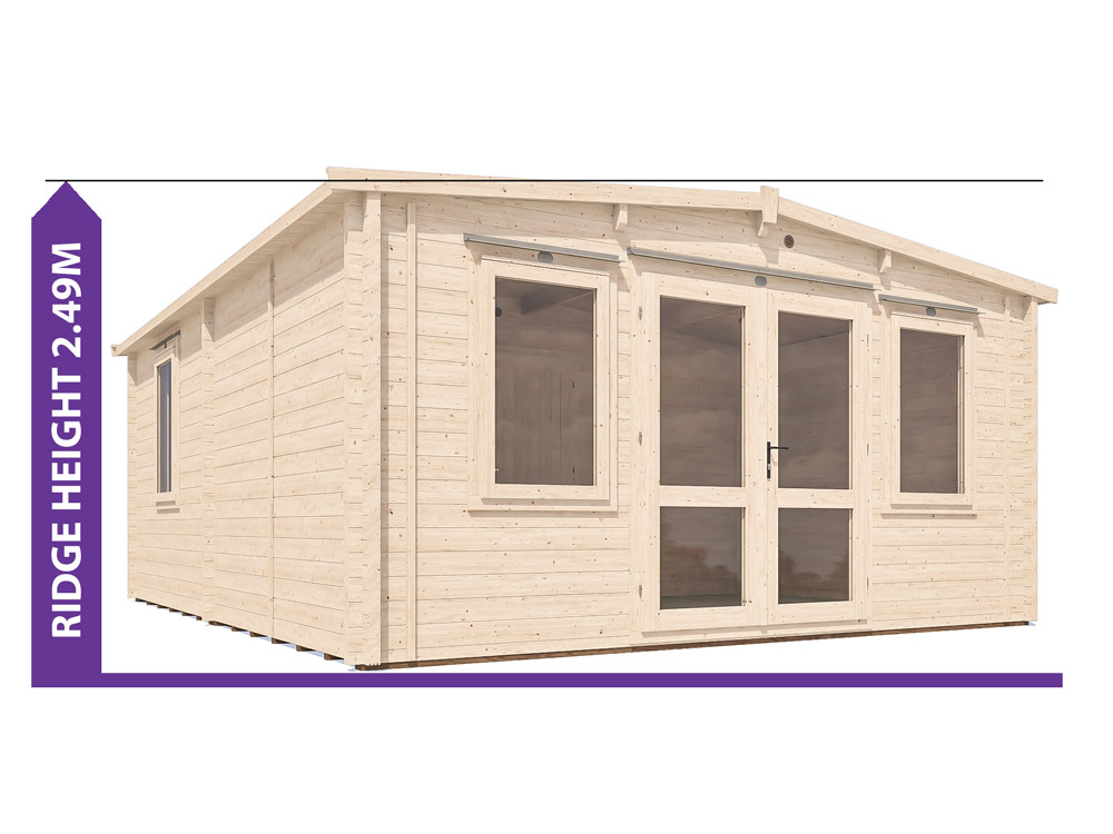 Severn Grande Insulated Log Cabin Avoid Planning Permission