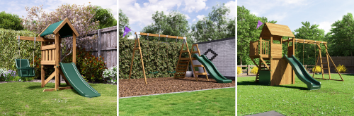 Microfort Fox Cub and Balconyfort Searcher climbing frames