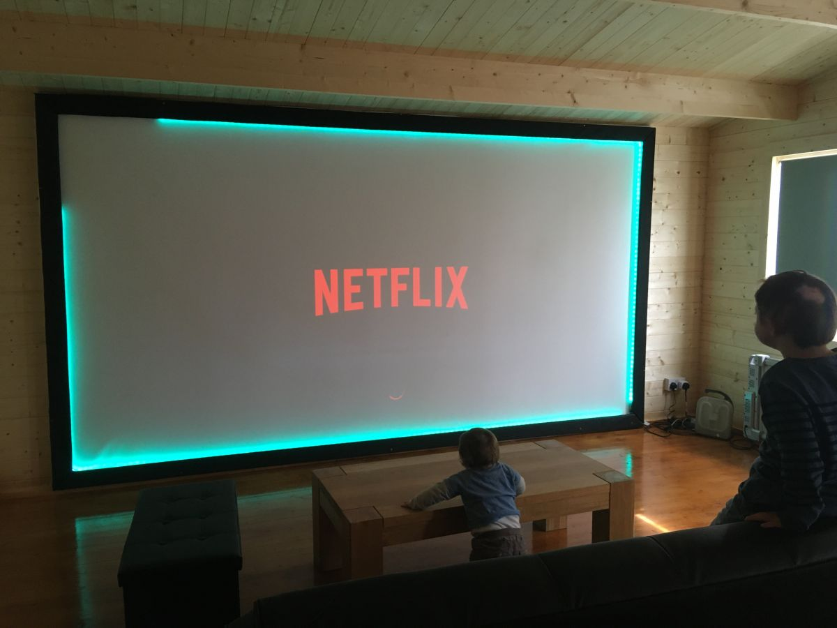 A screen is a must with a Man Cave Cinema Room