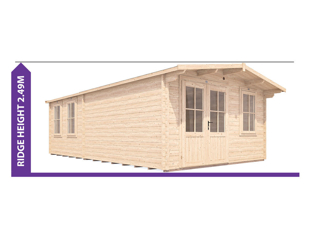 rhine grande log cabin under 2.5m avoid planning permission