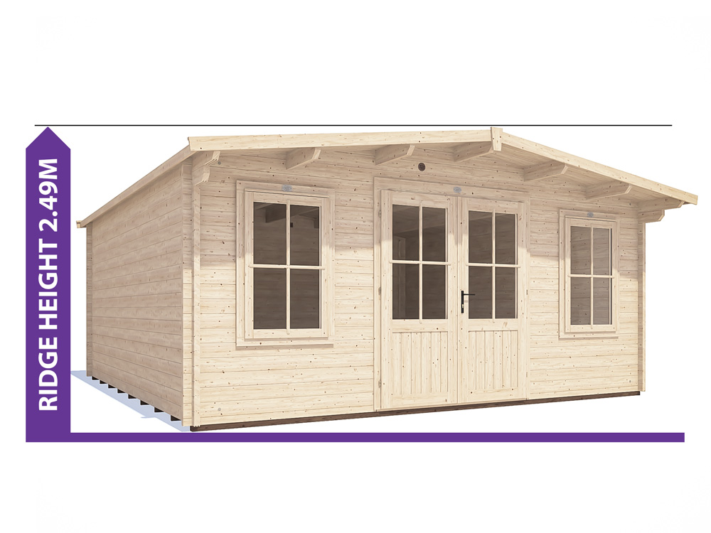 severn log cabin under 2.5m avoid planning permission