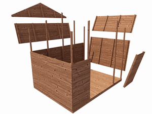 Pressure treated shed panel system