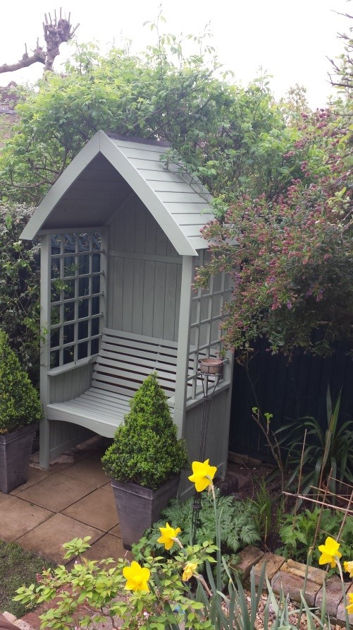 wooden arbour customer image photo