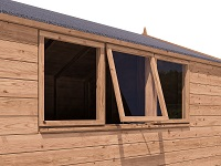 How to Waterproof Your Shed - Checking Shed Windows