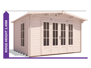 Avoid Planning Permission HuggaBear Log Cabin 3.8x3.2