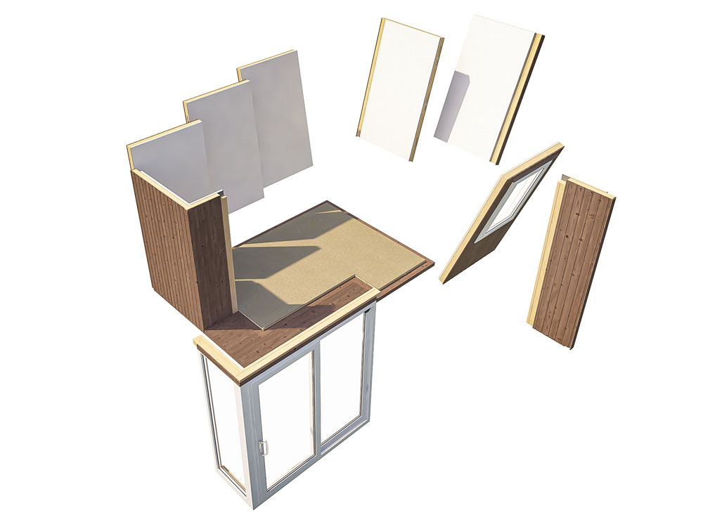 Garden Offices Easy To Build Panel System Kratos 3827