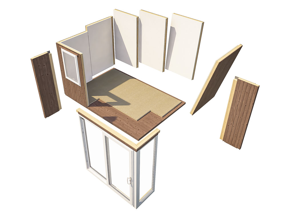 Garden Offices Easy To Build Panel System Kratos 3827 II