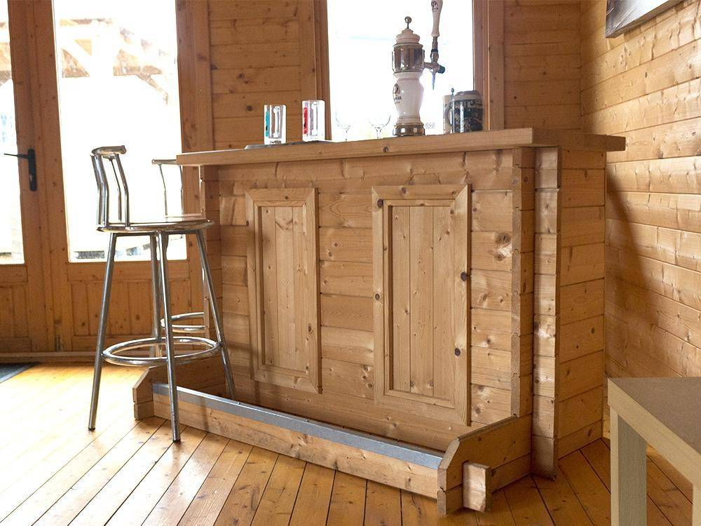 Log Cabin Man Cave Low Top Log Bar