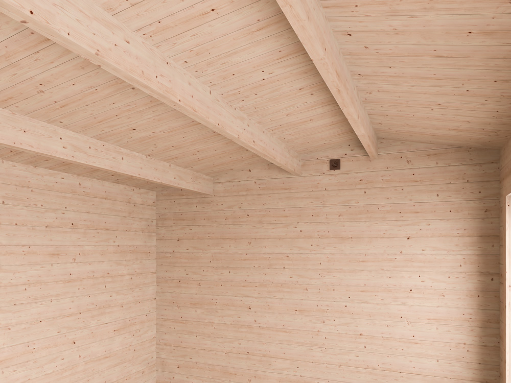 Modetro Insulated Log Cabin Avoid Sagging Roof