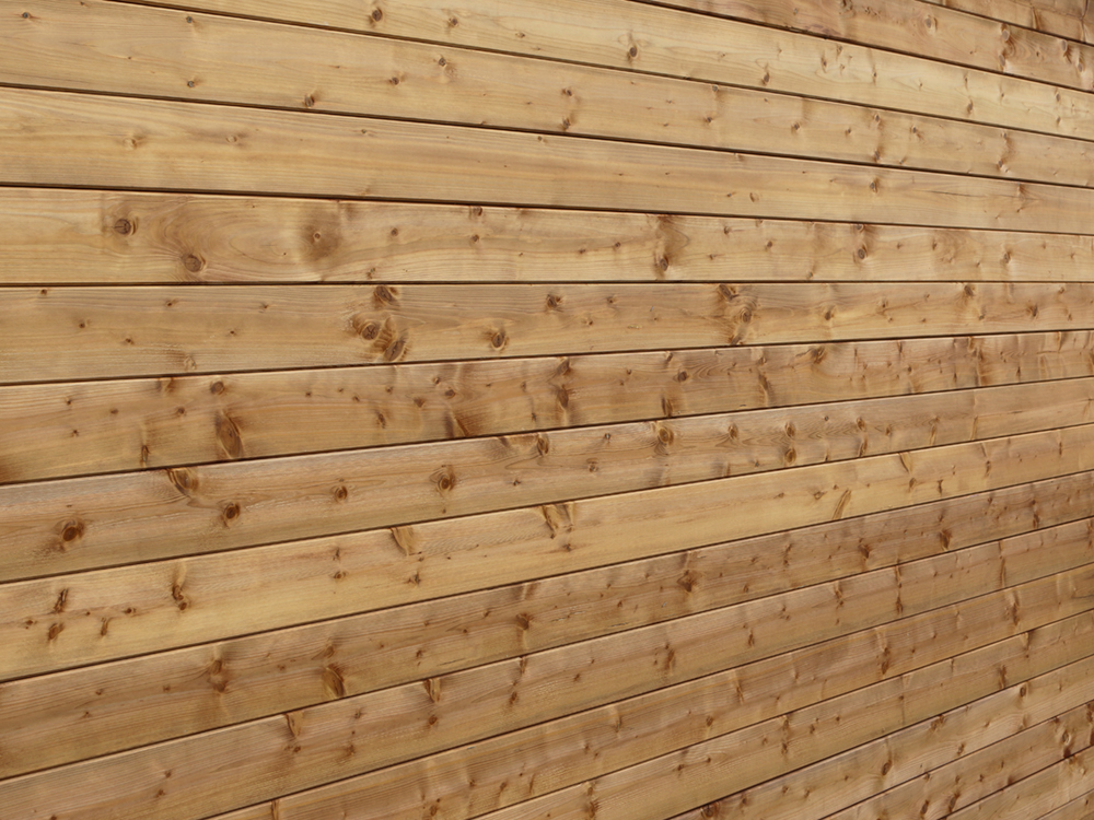 man cave spruce wall