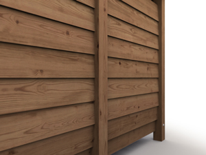 Log Store Pressure Treated Timber Wall