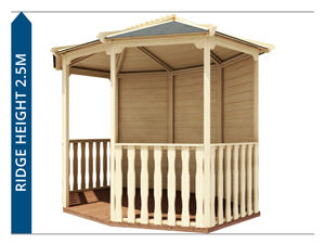 Wooden Gazebo Avoid Planning Permission II