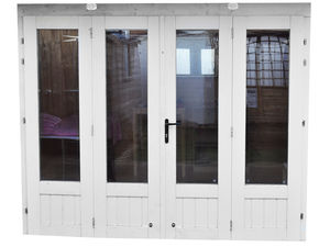 Outdoor building bi-fold door
