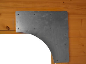 Garden retreat door bracket