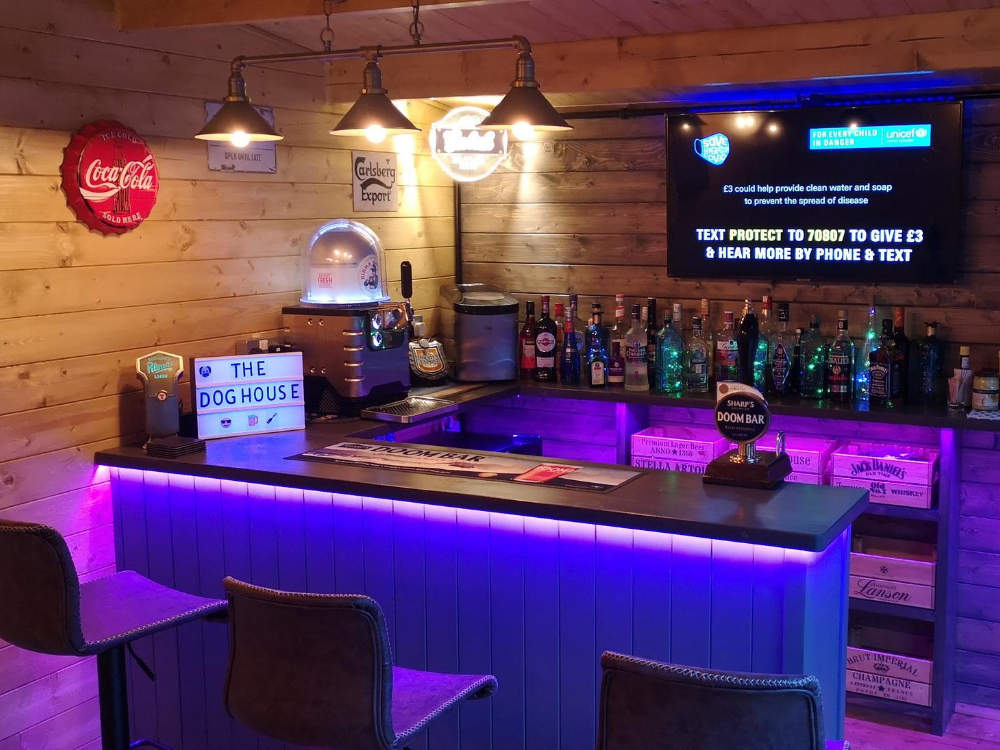 How To Build The Best Pub Shed In 5, Garden Shed Bar Ideas Uk