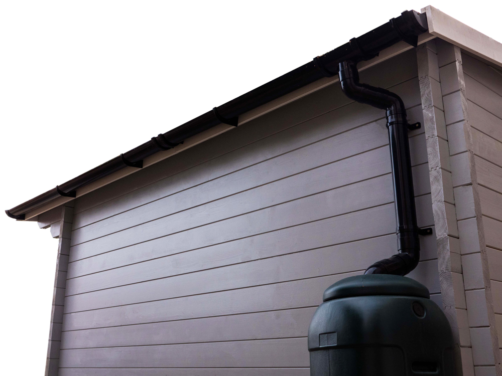 water drainage gutter Dunster House moisture control