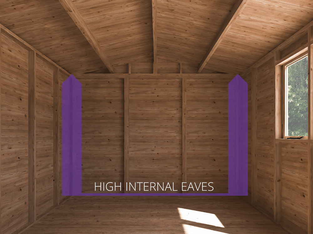 Sheds & Storage High Internal Eaves Yankee C Low