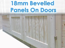 Dunster House Windors Doors panels spruce timber