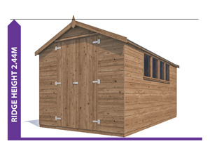 Sheds & Storage Avoid Planning Permission Birgi 2.4x4.2