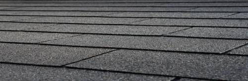 black rectangular shingles