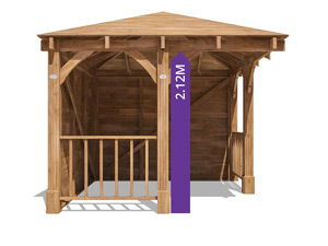 Centaur gazebo tall walkthrough height