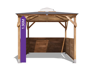erin gazebo 3 half panels tall walkthrough height