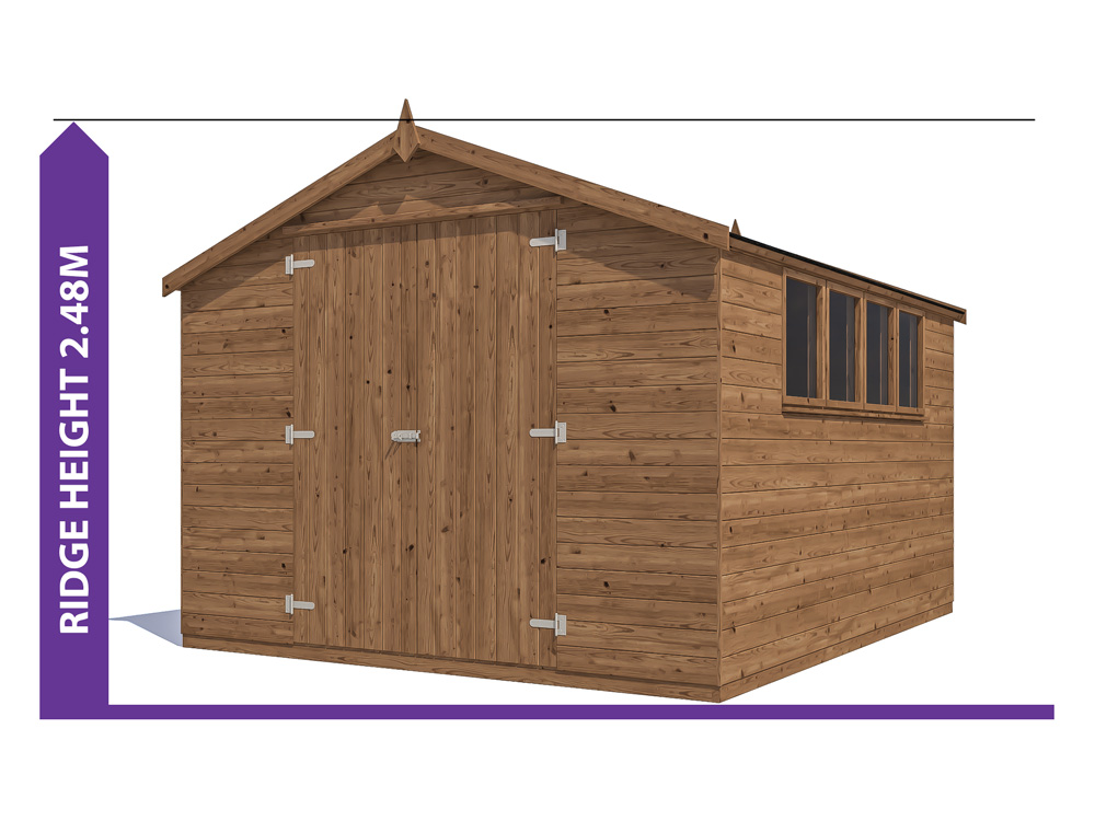 Latli Pressure Treated Shed W3 05m X D3 6m Sheds Amp Storage