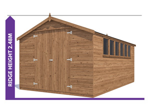 Sheds & Storage Avoid Planning Permission Latli 3.0x4.8