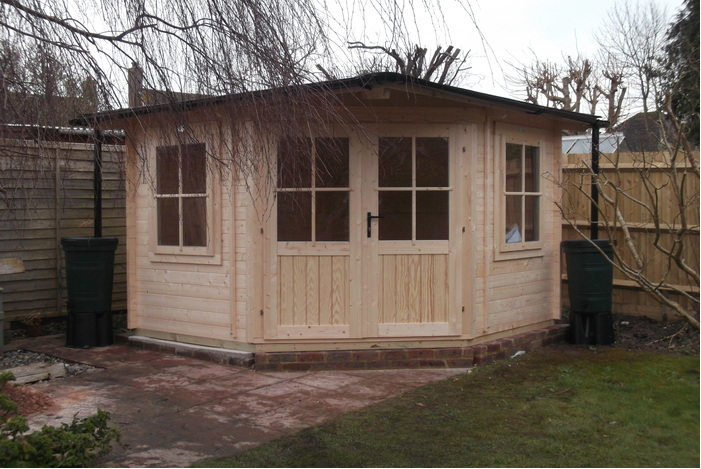 dunster house log cabin in the garden customer photo