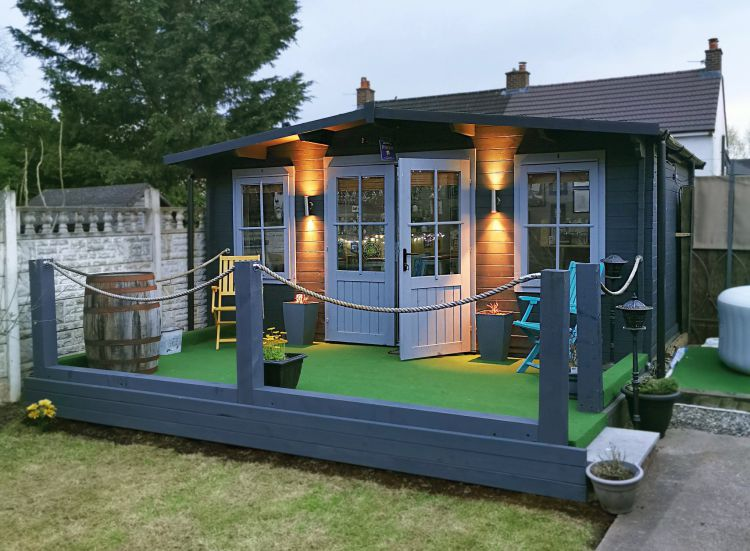 A Space to Create Extra Room for Your Home - Log Cabin Garden Building Office Shed Summerhouse Studio