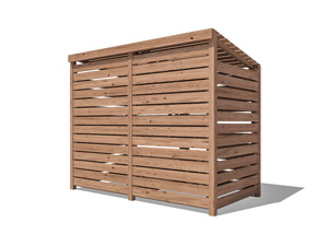Rear Wall - Freestanding Double Wheelie Bin Store