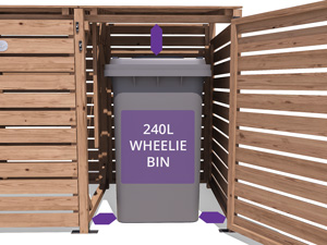 Spacious Interior Wheelie Bin Store