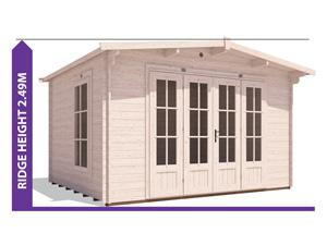 Avoid Planning Permission BattleClaw Log Cabin 3.8x3.2