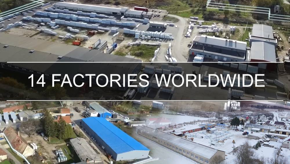 14 Factories worldwide