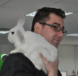 Alex Murphy and little rabbit