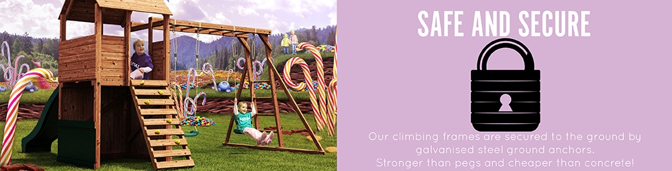 Wooden climbing frames play houses dunster house