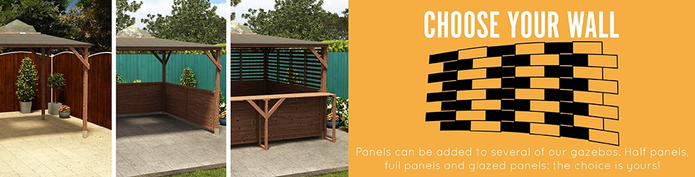 Gazebos and enclosures for sale