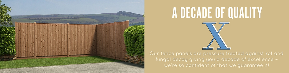 New Fence panel decade of quality