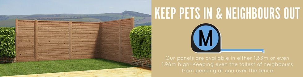 New Fence Panel Pets In
