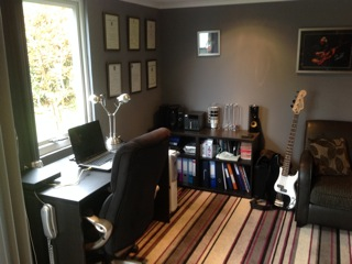 music studio garden office