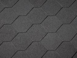 Black Hexagonal Shingles