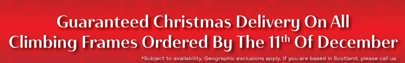 Order your climbing frame now for Christmas delivery