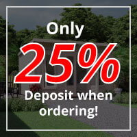Only 25% deposit when ordering Log Cabins