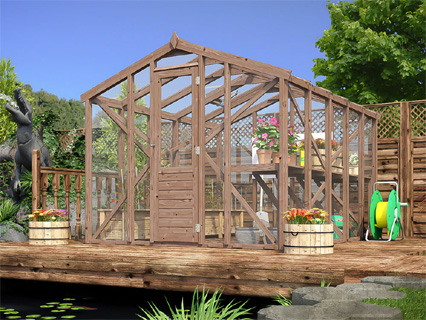 Wooden  Greenhouses Pressure Treated