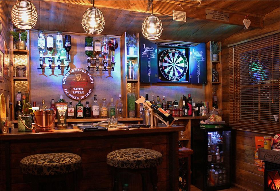 Outdoor Man Cave Bar