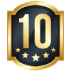 10 years blue icon